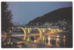 CARTOLINA - POSTCARD - ALBANIA - BERAT - VEDUTA NOTTURNA DEL PONTE MEDIEVALE - Albanië