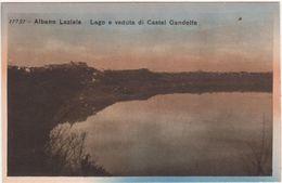 579 ALBANO LAZIALE ROMA LAGO E VEDUTA DI CASTEL GANDOLFO 1920 CIRCA - Altre Città