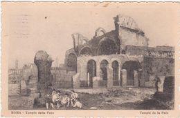 586 ROMA TEMPIO DELLA PACE DISEGNATA 1929 - Andere Monumenten & Gebouwen