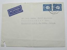 1959 , Brief Mit 2 Mal 40Pfg, Heuss Nach Den USA - Berlin (West)