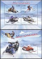 MSP-BK21-036 MINT ¤ BURUNDI 2012 KOMPL. SET (SHEET AND BLOCK) ¤ MOTONEIGES - Moto