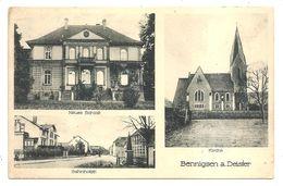 BENNIGSEN A. DEISTER - Neues SchloB - Bahnhofstr. - Kirche - (Rudolf Lenz - Pattensen) - Springe