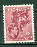 Seychelles: 1938/49   KGVI    SG139ca     18c   Carmine-lake   [Ordinary]   MH - Seychelles (...-1976)