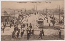 TURQUIE EN 1918,TURKEY,TURKIYE,Constantinople,KONSTANTINOUPOLIS,istanbul,tramway,pont - Turchia