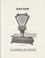 Publicité Balance Dayton Vincennes Seine - Publicités