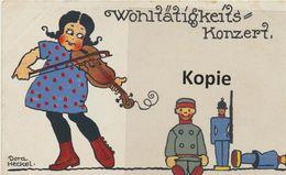 """AK Dora Heckel """"Wohltätigkeizskonzert"""" 1917 - Otros Ilustradores"""