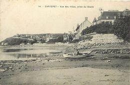 - Manche -ref-B323- Carteret -  Vue Des Villas Prise Du Glacis - Villa - Carte Bon Etat - - Carteret