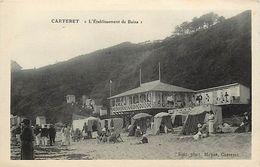 - Manche -ref-B321- Carteret - L Etablissement Des Bains - Batiments Et Architecture - Carte Bon Etat - - Carteret