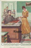 """AK Gumbart """"Die Neue Ordonanz"""" - Künstlerkarten"""