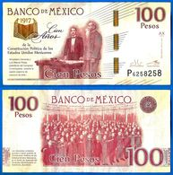 Mexique 100 Pesos 2016 Serie AX Prefixe P Commemoratif Constitution Que Prix + Port 100 Ans Comemo Skrill Paypal Bitcoin - Mexico