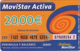 TARJETA TELEFONICA DE ESPAÑA, (PREPAGO) 164. - Espagne