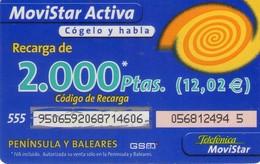 TARJETA TELEFONICA DE ESPAÑA, (PREPAGO) 165. - Espagne