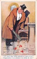 Gold Fish - Broken Aquarium Brisé - Homme Ivre Drunk Man - Illustrateur Illustrator Lawson Wood 1917 - Wood, Lawson
