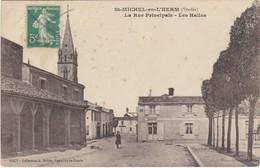 SAINT-MICHEL-en-L'HERM - La Rue Principale - Les Halles - Tabacs - Saint Michel En L'Herm