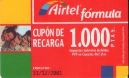 TARJETA TELEFONICA DE ESPAÑA, (PREPAGO) 192. - Airtel