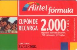TARJETA TELEFONICA DE ESPAÑA, (PREPAGO) 193. - Airtel