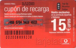 TARJETA TELEFONICA DE ESPAÑA, (PREPAGO) 195. - Airtel