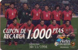 TARJETA TELEFONICA DE ESPAÑA, (PREPAGO) 186. FUTBOL. - Spain