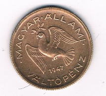 10 FILLER 1947 HONGARIJE /394G/ - Hongrie