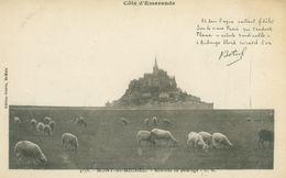 Mont Saint-Michel; Moutons Au Paturage Avec Poème De Th. Botrel - Non Voyagé. (Guérin, St. - Malo) - Le Mont Saint Michel