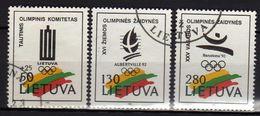 Litauen / Lietuva, 1992,  Mi 496-498, Gestempelt [290118XXII] - Lituania
