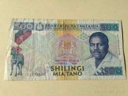 500 Shilinci 1989 - Tanzanie