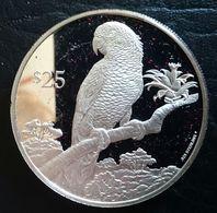 "British Virgin Islands 25 DOLLARS 1993 SILVER PROOF ""Endangered Wildlife"" (free Shipping Via Registered Air Mail) - British Virgin Islands"