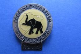 Brosche, Broche, Médaille, MOTO, ELEFANTENTREFFEN, Nürburgring 1976, Bike,Töff, 4x4,7cm, Elephant - Motorbikes