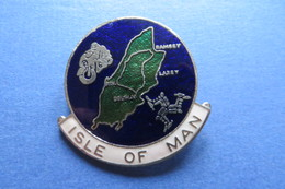 Brosche, Broche, Médaille, MOTO, ISLE OF MAN, Ca 1977, Bike,Töff, 3,5x4cm, Email - Motorbikes