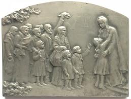 Médaille. La France Reconnaissante 1914-1918. Stern. 70 X 55 Mm - 1914-18