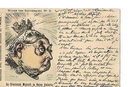CPA/ Carte Précurseur / Musée Des Souverains / Satire / Reine Victoria / 1898 / M.F.C.C Paris - Satirical