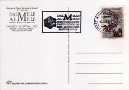 """Italia 1995 Rimini Archeologia Mostra """"Dal Mille Al Mille"""" Tesori E Popoli Dal Mar Nero Annullo Meccanico Cartolina - Archeologia"""