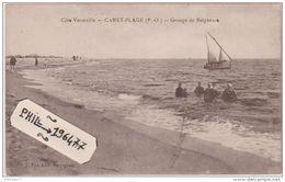 66 Canet Plage - Cpa / Groupe De Baigneurs. Non Circulé. - Canet Plage