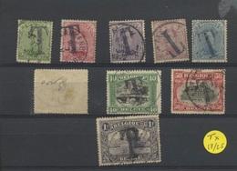 Taxes 7-25 Ø Mais Un Ests Plié   Cote 5,50 - Stamps