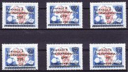 Burundi 1962 Nr 35/40 **, Zeer Mooi Lot Krt 3860 - Burundi
