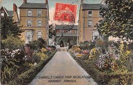Pays De Galles - Wales - Swansea - St Gabriels Church From Recreation Grounds - Pays De Galles