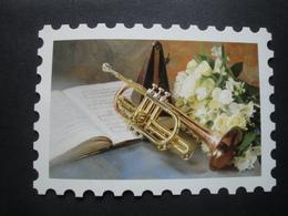 CPM MUSIQUE - CARTE TIMBRE TROMPETTE - Musique Et Musiciens
