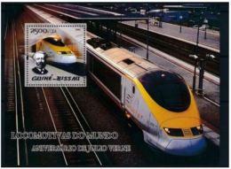 Guinée Bissau 2005 Jules VERNE Train - Célébrités