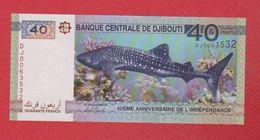 Djibouti  / 40 Francs 2017 / 40 ème Anniversaire De L'Indépendance / NEUF - Djibouti