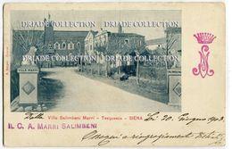CARTOLINA VILLA SALIMBENI MARRI TREQUANDA SIENA VIAGGIATA ANNO 1903 - Siena