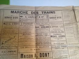 CARTE, POSTER, Marche Des Trains , 1894, Au Départ De Limoges - Europe