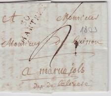 FRANCE 1803 LETTRE DE MARTRES - 1801-1848: Precursors XIX