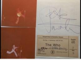 Pete Townshend THE WHO Rock Band Autograph + 2 Photograph From Concert München-1972 (music Memorabilia Autographe - Autographes