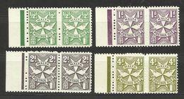 1967 Malta SEGNATASSE  POSTAGE DUE 2 Serie Di 4 Valori (27/30) MNH** Coppia - Malta