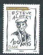 Año 2014 Nº 761 Poeta Esteve Albert - French Andorra