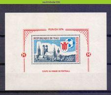 Mnq023 SPORT WK VOETBAL SOCCER WORLD CHAMPIONSHIP FOOTBALL FUSSBALL FUßBALL WELTMEISTERSCHAFT MALI 1974 PF/MNH - Coppa Del Mondo