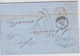 ITALIE 1858 LETTRE AVEC CACHET ENTREE LE PONT DE BEAUVOISIN - Marcofilie (Brieven)