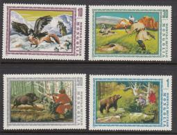 Mongolia 1975 MNH Scott #851-#857 Set Of 7 Hunting In Mongolia, Wild Animals - Mongolie