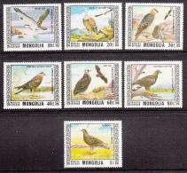 Mongolia 1976 MNH Scott #914-#920 Set Of 7 Protected Birds - Mongolie