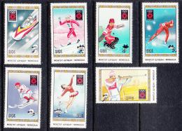 Mongolia 1984 MNH Scott #1347-#1353 Set Of 7 Sports 1984 Winter Olympics Sarajevo - Mongolie